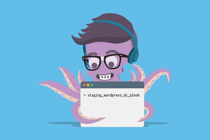 cara buat kloning website dengan fitur staging Wordpress di Plesk