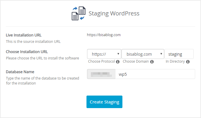 Atur konfigurasi staging WordPress sebelum menduplikat website
