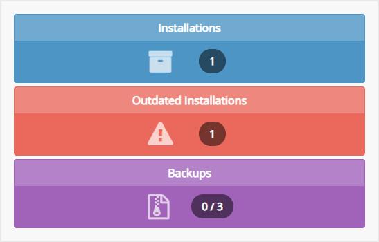 Klik menu Installation untuk melihat semua website yang terpasang di hosting