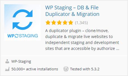 Plugin WP Staging untuk memudahkan proses staging dari dasbor WordPress