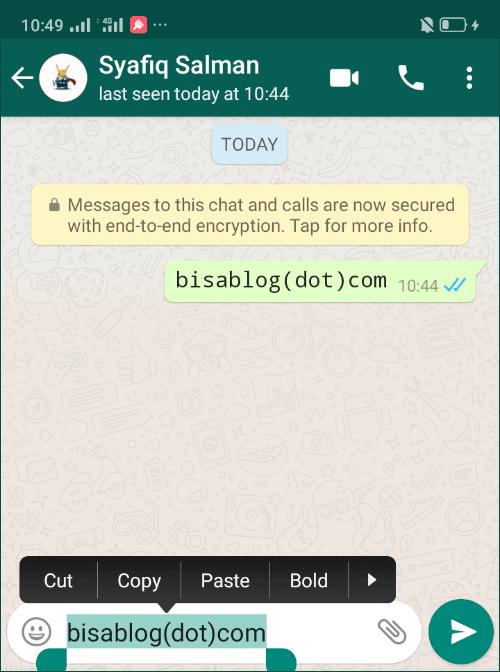Cara mengubah teks di WhatsApp tanpa aplikasi