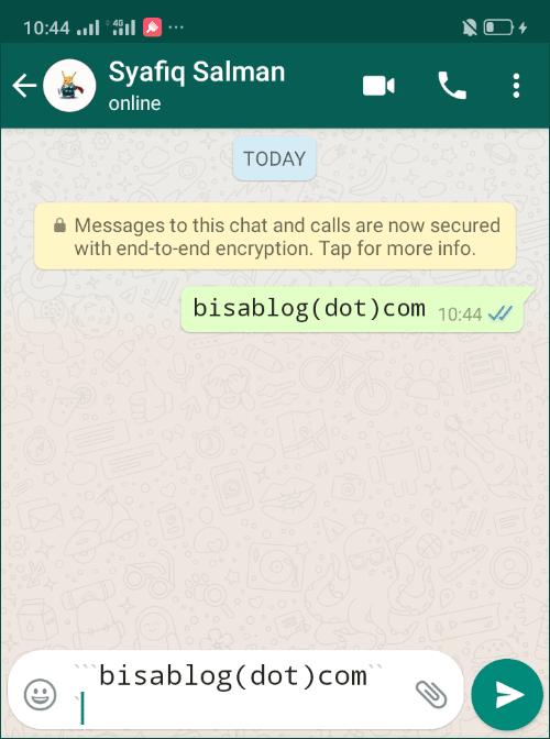 Cara mengubah font WhatsApp menjadi Monospace