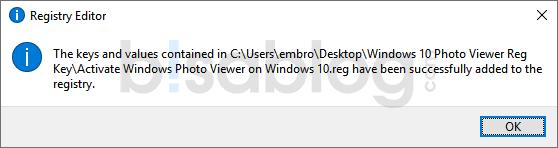 Setelah selesai, kita sukses mengembalikan Windows Photo Viewer ke Win 10