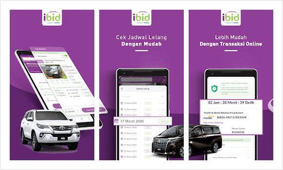 IBID, aplikasi lelang mobil terbaik di indonesia