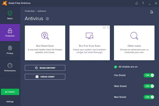 Avast adalah salah satu aplikasi antivirus terbaik untuk laptop