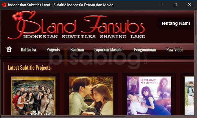 Download subtitle drama korea bahasa Indonesia di Island Subs