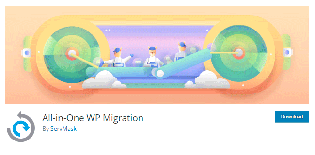 Plugin migrasi yang berfungsi ganda sebagai plugin backup wordpress