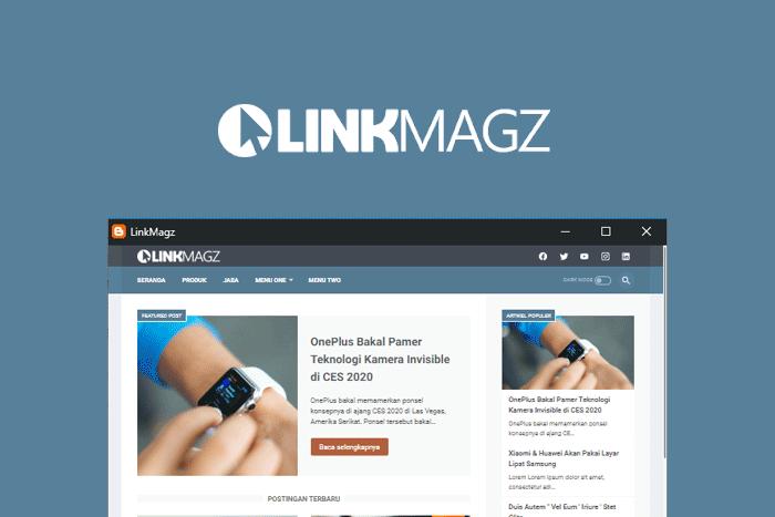review linkmagz, template blogger terbaik rasa wordpress
