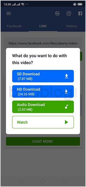 cara download video dari facebook dengan aplikasi