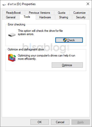 cara memperbaiki hardisk yang tidak terbaca di Windows