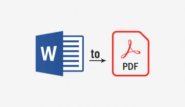 cara mengubah Word ke PDF di laptop secara offline dan online
