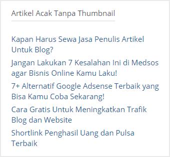cara membuat widget random post di blogger