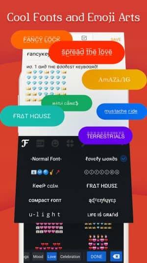aplikasi fancy keyboard untuk menggunakan custom font di Android
