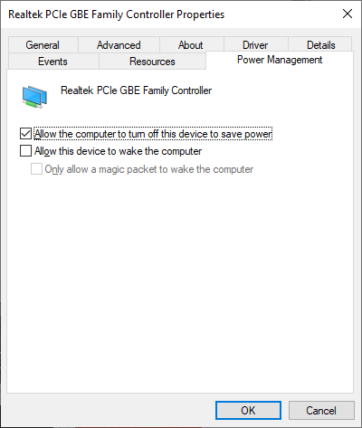 cek apakah salah satu komponen network adapters membuat pc/laptop tidak bisa masuk ke mode sleep